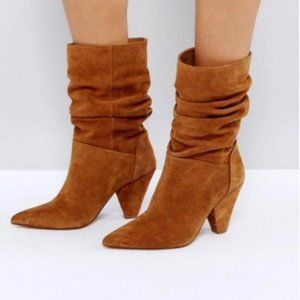 ASOS Rust Cianna Slouch Boots/Booties